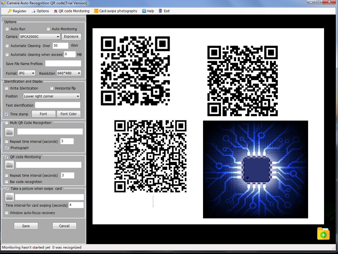 Camera Auto Recognition QR code full screenshot